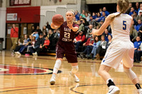 Sauk Centre vs St. Cloud Cathedral Girls' Basketball; Section 6AA Final